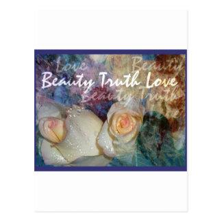 Beauty, Truth, Love Postcard