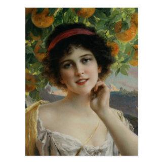 Beauty Under the Orange Tree Post Card