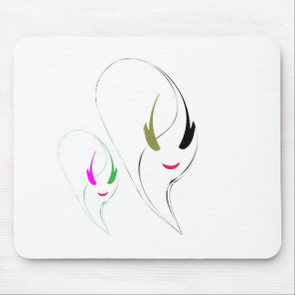 beauty vector face girl portrait mouse pad