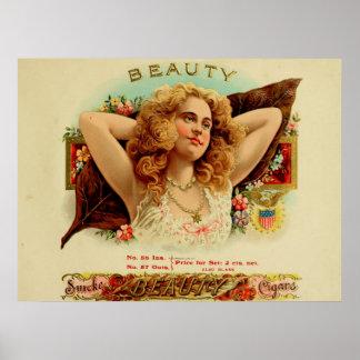 Beauty Vintage Cigar Box Labels Posters