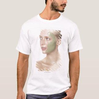 beauty, wet, spa, hair up, blonde, blue eyes T-Shirt