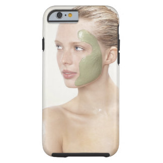 beauty, wet, spa, hair up, blonde, blue eyes tough iPhone 6 case