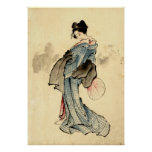 Beauty with Fan 1840 Posters