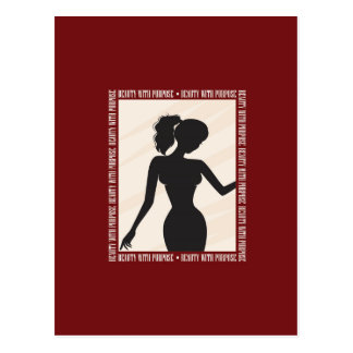 Beauty with Purpose Silhouette Postcard