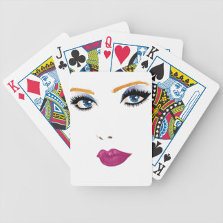 Beauty woman face 2 bicycle playing cards