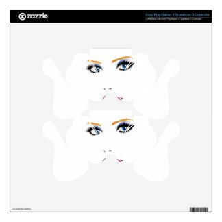 Beauty woman face 2 decal for PS3 controller