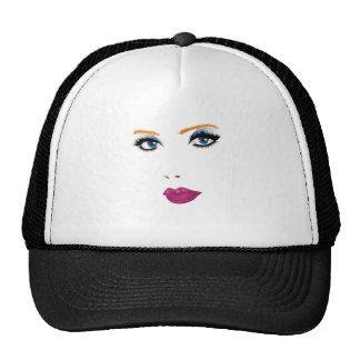 Beauty woman face 2 trucker hat