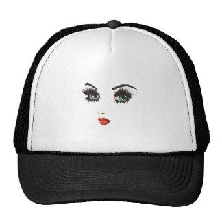 Beauty woman face trucker hat