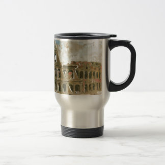 beautyful painting of Colosseum by Anna Palm Travel Mug