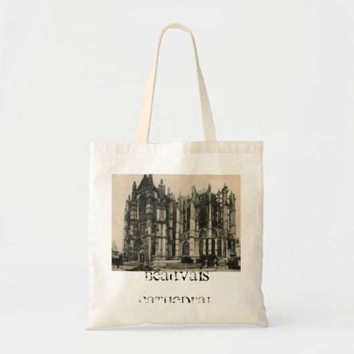 Beauvais - Cathedral replica  postcard 1920 Canvas Bag