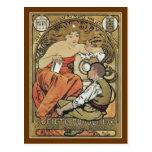 Beaux-Artes del DES de Mucha - de Societe Populair Tarjetas Postales