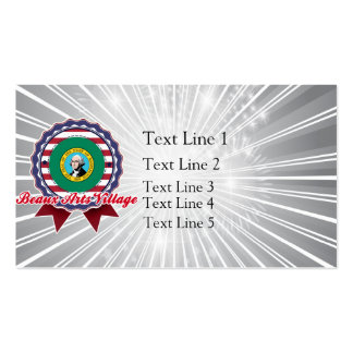 Beaux Arts Village, WA Double-Sided Standard Business Cards (Pack Of 100)