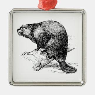Beaver #1 metal ornament