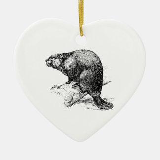 Beaver 1 christmas tree ornament