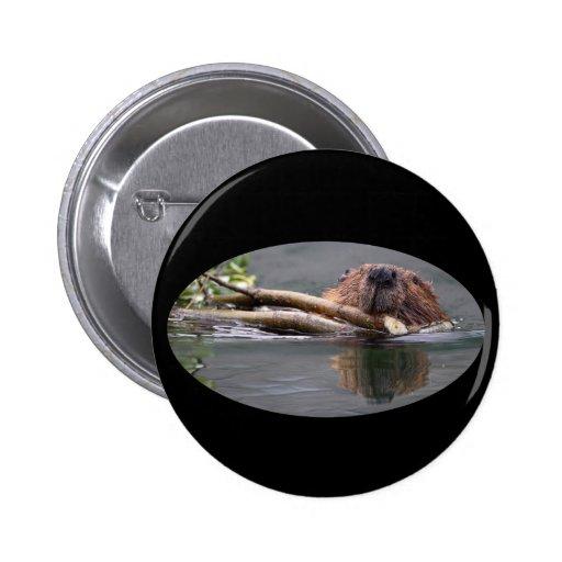 Beaver 2 Inch Round Button