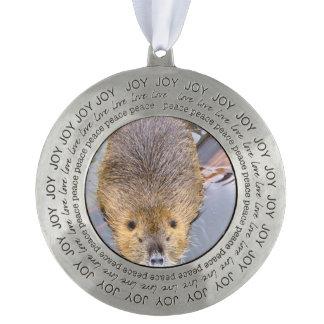 beaver-2 round ornament