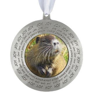 beaver-4 round ornament