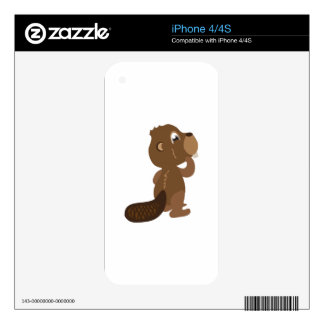 Beaver Animal Decal For The iPhone 4