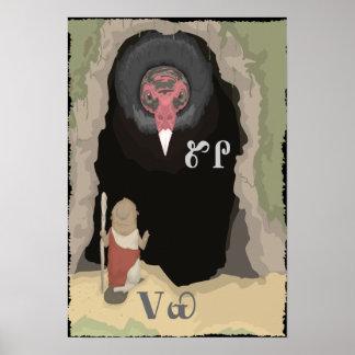 Beaver Asks Vulture For Help Poster