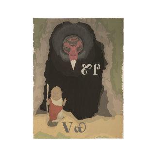Beaver Asks Vulture For Help Wood Poster