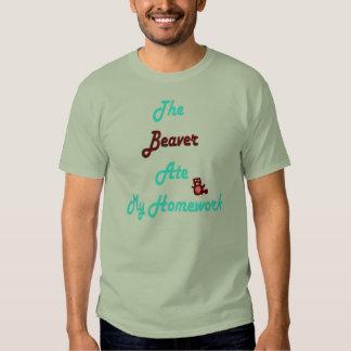beaver ate homework tee shirt