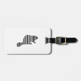 BEAVER BAR CODE Animal Barcode Pattern Design Luggage Tag