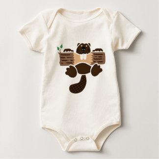 beaver beaver more otter more eager baby bodysuit