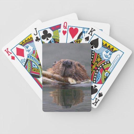 beaver bicycle playing cards