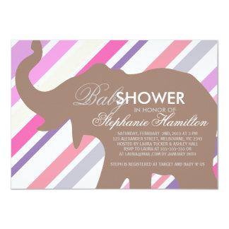 Beaver big elephant baby shower card