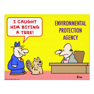 beaver biting tree environmental protection agency card