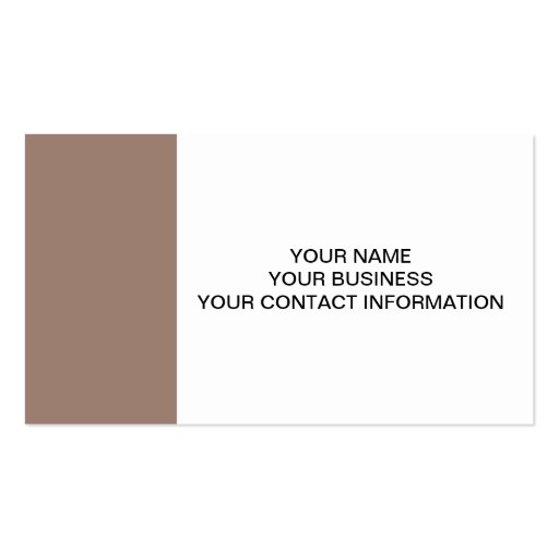 Beaver Brown High End Colored Business Card Template