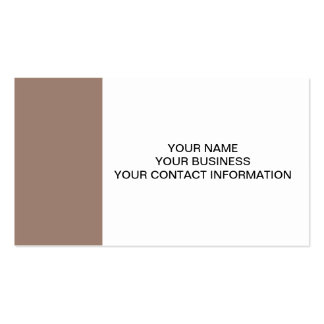 Beaver Brown High End Colored Double-Sided Standard Business Cards (Pack Of 100)