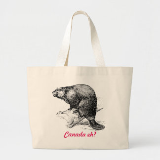 Beaver Canada eh?  Lighthouse Route Large Tote Bag