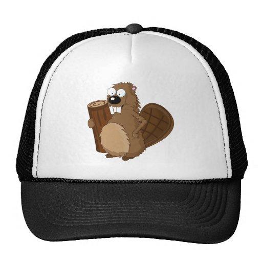 Beaver Cartoon Trucker Hat