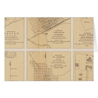 Beaver, Cheyenne, Fort Union, Georgetown Greeting Card
