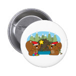 Beaver Christmas 2 Inch Round Button