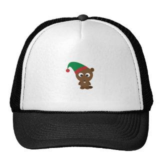 Beaver Christmas Elf Trucker Hat