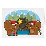 Beaver Christmas Greeting Card