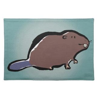 beaver cloth placemat