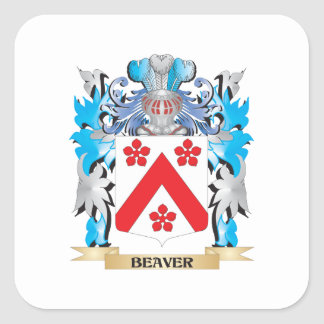 Beaver Coat of Arms Stickers