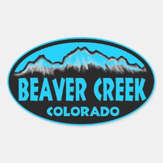 Beaver Creek Colorado blue oval stickers