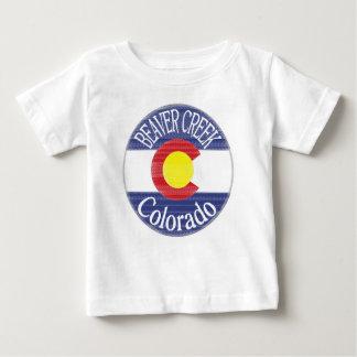Beaver Creek Colorado circle flag baby tee