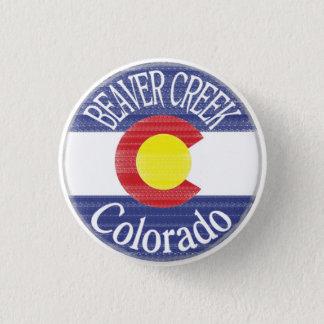 Beaver Creek Colorado circle flag button