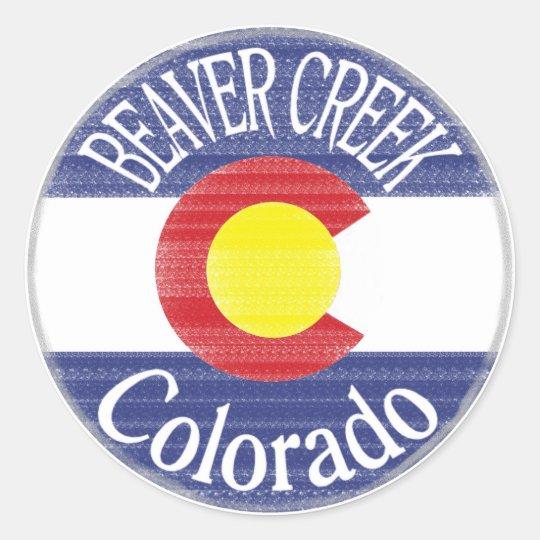 Beaver creek colorado circle flag stickers