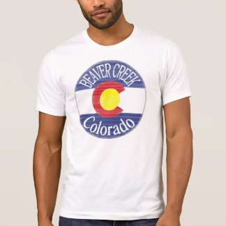 Beaver Creek Colorado circle flag tee