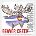 Beaver Creek Colorado flag elk design stickers