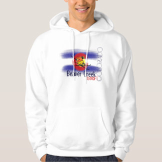 Beaver Creek Colorado flag ski hoodie