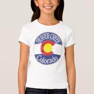 Beaver Creek Colorado girls circle flag tee