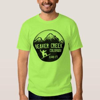 Beaver Creek Colorado green snowboard art tee