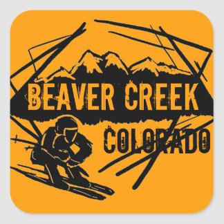 Beaver Creek Colorado orange ski stickers